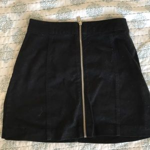 Black Denim zipper Skirt